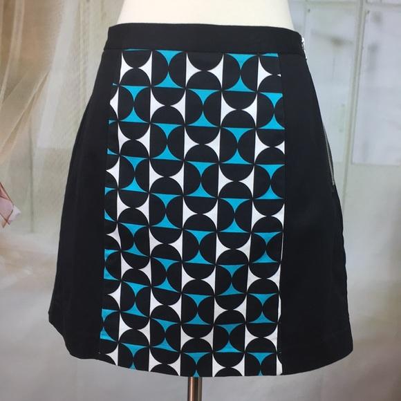 Worthington Dresses & Skirts - Worthington Black Abstract A-line Skirt